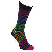 Buy Ted Baker Richlee Stripe Sock, One Size, Multi Online at johnlewis.com
