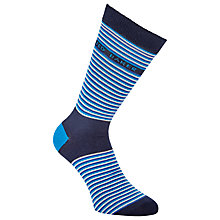 Buy Ted Baker Markee Stripe Socks, One Size, Blue Online at johnlewis.com