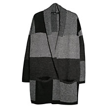 Buy Mango Mohair-Blend Check Cardigan, Light Grey Online at johnlewis.com