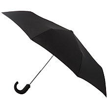 Buy Totes Wonderlight Auto Open/Close Crook Umbrella, Black Online at johnlewis.com