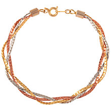 Buy Susan Caplan Vintage 1990s Three Chain Bracelet, Multi Online at johnlewis.com