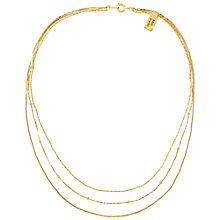 Buy Susan Caplan Vintage Three Chain Necklace, Gold Online at johnlewis.com