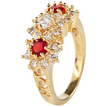 Buy Susan Caplan Vintage 1980s Crystal Ring, Red Online at johnlewis.com