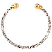 Buy Susan Caplan Vintage 1990s Twisted Bangle, Silver Online at johnlewis.com