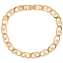 Buy Susan Caplan Vintage 1990s Crystal Bracelet, Gold Online at johnlewis.com