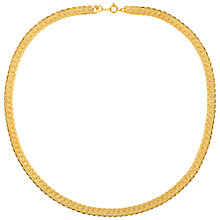 Buy Susan Caplan Vintage Snake Chain Collar Necklace, Gold Online at johnlewis.com