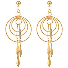 Buy Susan Caplan Vintage 1990s Dreamcatcher Earrings, Gold Online at johnlewis.com