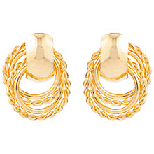 Buy Susan Caplan for John Lewis 1990s Hoop Drop Earrings, Gold Online at johnlewis.com