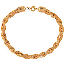 Buy Susan Caplan Vintage 1980s Braid Bracelet, Gold Online at johnlewis.com