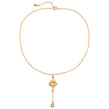 Buy Susan Caplan Vintage 1990s Edwardian Style Necklace, Gold Online at johnlewis.com