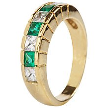Buy Susan Caplan Vintage 1980s Crystal Ring, Green Online at johnlewis.com