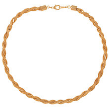 Buy Susan Caplan Vintage 1980s Braid Chain Necklace, Gold Online at johnlewis.com