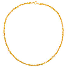 Buy Susan Caplan Vintage 1990s Twisted Necklace, Gold Online at johnlewis.com