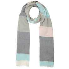 Buy John Lewis Wide Stripe Scarf, Blue Online at johnlewis.com