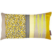 Buy Clarissa Hulse Garland Patchwork Cushion, Turmeric/Pebble Online at johnlewis.com
