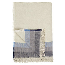 Buy John Lewis Linen Stripe Throw, Blue Online at johnlewis.com