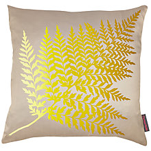 Buy Clarissa Hulse Fern Ombre Cushion, Pebble/Turmeric Online at johnlewis.com
