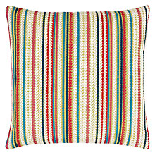 Buy Harlequin Crochet Stripe Cushion, Multi Online at johnlewis.com