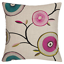 Buy Harlequin Heirloom Cushion, Raspberry / Turquoise Online at johnlewis.com