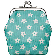 Buy Cath Kidston Childrens' Stars Mini Clasp Purse, Mint Green Online at johnlewis.com
