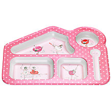Buy Cath Kidston Melamine Ballerinas Food Tray, Pink Online at johnlewis.com
