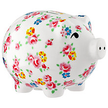 Buy Cath Kidston Freston Rose Piggybank, White Online at johnlewis.com