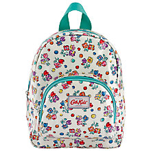 Buy Cath Kidston Childrens' Mini Spot Floral Rucksack, White Online at johnlewis.com