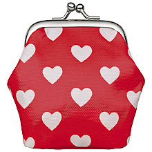 Buy Cath Kidston Childrens' Hearts Mini Clasp Purse, Red Online at johnlewis.com