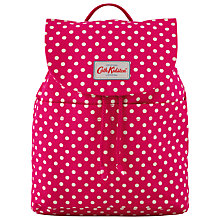 Buy Cath Kidston Little Spot Summer Backpack, Raspberry Online at johnlewis.com