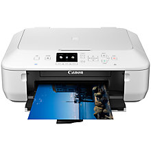 Buy Canon PIXMA MG5650 All-In-One Wireless Printer, White + Ink Cartridge with FREE Paper Online at johnlewis.com