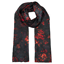 Buy Jigsaw Floral Print Scarf, Amber Online at johnlewis.com