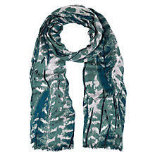 Buy Hobbs Feather Scarf, Blue Online at johnlewis.com