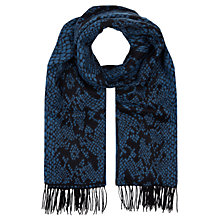 Buy Hobbs Snake Scarf, Blue Online at johnlewis.com