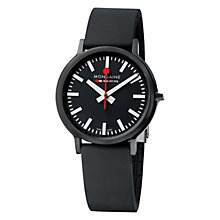 Buy Mondaine A512.30358.64SPB Stop 2 Go Unisex Leather Strap Watch, Black Online at johnlewis.com