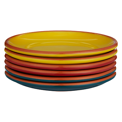 John Lewis Al Fresco Tapas Plates, Set of 6