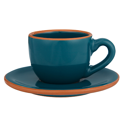 John Lewis Al Fresco Espresso Cups and Saucers, Set of 4