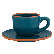 Buy John Lewis Al Fresco Espresso Cups and Saucers, Set of 4 Online at johnlewis.com