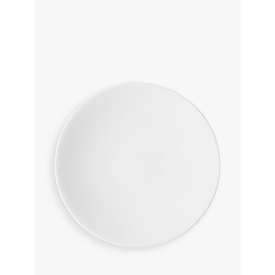 John Lewis Concave Bone China 28cm Plate, White