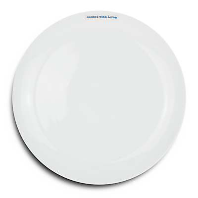 Image of Keith Brymer Jones Word 'Cooked With Love' 25.6cm Dinner Plate