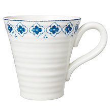 Buy Sophie Conran Eliza Pattern Mug, White/Blue Online at johnlewis.com