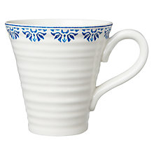 Buy Sophie Conran for Portmeirion Betty Pattern Mug, White/Blue Online at johnlewis.com