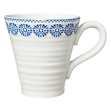 Buy Sophie Conran for Portmeirion Florence Pattern Mug, White/Blue Online at johnlewis.com