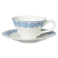 Buy Sophie Conran for Portmeirion Florence Teacup & Saucer Online at johnlewis.com
