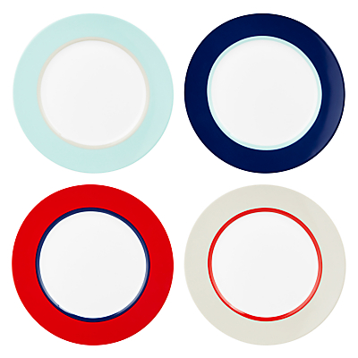 House by John Lewis Studio Side Plates, Set of 4, Multi