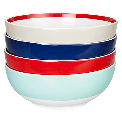 House by John Lewis Studio Bowls, Set of 4, Multi