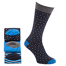 Buy Ted Baker Triopak Socks, Pack of 3, One Size, Blue Online at johnlewis.com