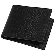 Buy Mulberry 8 Card Crocodile Wallet, Black Online at johnlewis.com