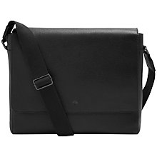 Buy Mulberry Grain Messenger Bag, Black Online at johnlewis.com