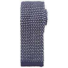 Buy Kin by John Lewis Dalton Knitted Tie, Pewter/White Online at johnlewis.com