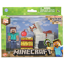 Buy Minecraft Overworld Series 2 Steve & Horse Figurines Online at johnlewis.com
